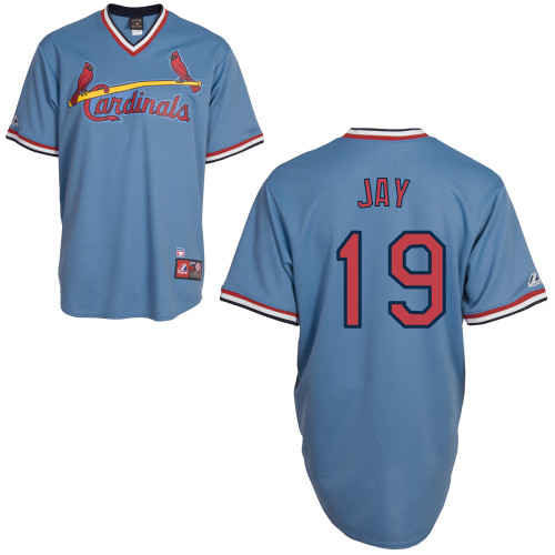 Jon Jay #19 mlb Jersey-St Louis Cardinals Women's Authentic Blue Road Cooperstown Baseball Jersey